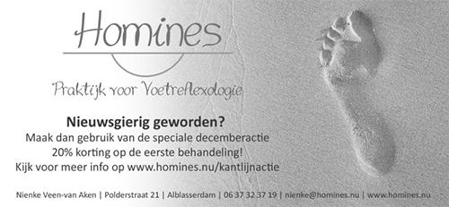 Kantlijn kortingactie Homines voetreflexologie Alblasserdam